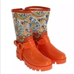 Dolce & Gabbana Majolica Rainboots